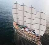 158-метровая суперяхта с четырьмя парусами и восемью палубами: фото проекта